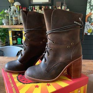 NIB Jeffrey Campbell Juneau Brown Leather Boots